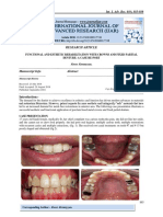 FUNCTIONAL AND ESTHETIC REHABILITATION WITH CROWNS AND FIXED PARTIAL DENTURE