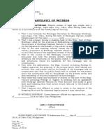 Affidavit of Witness- Lani Pangatungan