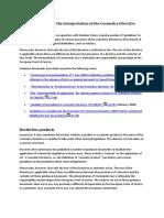 Guidelines for the Interpretation of Cosmetics Directive En