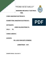 Examen Final Maquinas Electricas