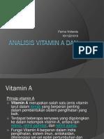 Analisis Vitamin a Dan E