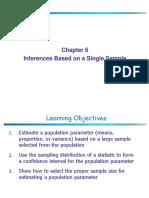 Chapter 6 Single Sample Estimation 1