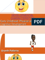 Developmental Characteristics