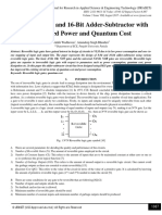 Design of 8-Bit and 16-Bit Adder-Subtractor with Optimized Power and Quantum Cost