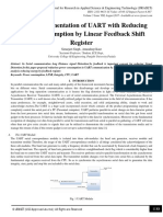 VHDL Implementation of UART with Reducing Power Consumption by Linear Feedback Shift Register