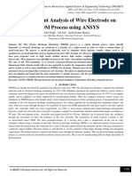 Finite Element Analysis of Wire Electrode on WEDM Process using ANSYS