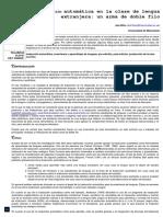 Ana Niño_ La Traducción Automática en Clase de Lengua Extranjera_ Un Arma de Doble Filo Automática en Clase de Lengua Extranjera