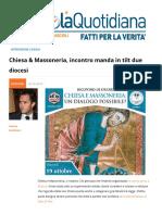 Chiesa-Massoneria Incontro Manda in Tilt Due Diocesi