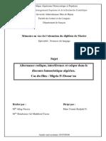 Alternance Codique_ Interférence Et Calque Dans Le Discours Humoristique Algérien