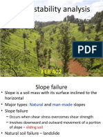 FEB 402 Slope Stability Analysis
