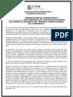 CNM publica convocatoria para recibir propuestas para completar las cuatro  vacantes en Tribunal Constitucional