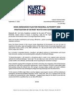 2010-09-27.PR Heise DWSD Authority Plan-1