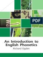Introduction to English Phonetics Richard Ogden