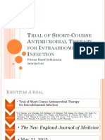 Trial of Short-Course Antimicrobial Therapy