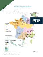Carte des 15.000 places de prison supplémentaires prévues par le gouvernement
