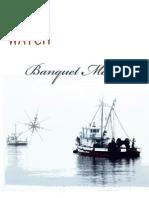 Harbor Watch Banquet Menu