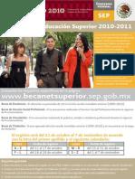 Convocatoria Para Becas de Educ. Superior 2010-2011