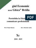 Portofoliu La Etică Și Comunicare Profesională