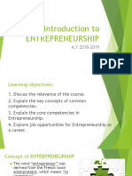 Entrepreneurship Introduction