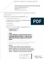 Exhibit 149-September 2014 Emails With TG, LL, SP and SM Re Comments Against NPL Listing