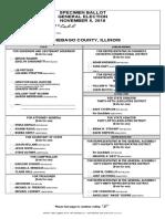 Winnebago County specimen ballot