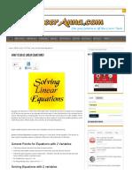 How to Solve Linear Equations_ _ CareerAnna