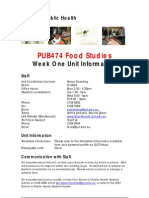 PUB474 Week One Info 2007
