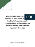 Análisis Técnico Jurídico de Amparo Indirecto de Altos Hornos de México S