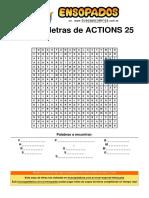 Sopa de Letras de Actions 25