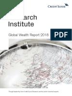 Informe de Riqueza Mundial 2018 de Credit Suisse