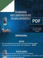 Dolor Perioperatorio en Cirugia Pediatrica