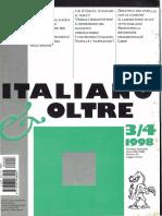 Italiano Oltre 1998 n. 3 e 4