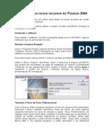 TestDrive - Novos Recursos Do Finance 2004