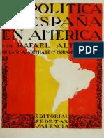 Altamira Rafael - La Politica de España en America