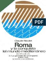 359346919 Nicolet Claude Roma y La Conquista Del Mundo Mediterraneo 264 27 a J C Tomo II