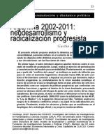 Enviando Varesi g Argentina 2002 2011 Neodesarrollismo y Radicalizacion Progresista