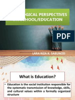 Sociological Perspectives on School n Educ
