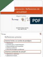Minería y Exploración Reflexiones de Actualidad 23Apr2014