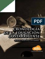 Cronologia de La Educacion Costarricense Edincr