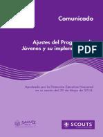 Ajustes de Programa de Jovenes y Su Implementacion