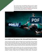 Akses Tanpa Batas Permainan Sportsbook Dengan Link www.xifali.com