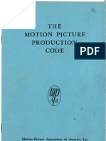 The Motion Picture Production Code (1956)