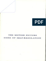 The Motion Picture Code of Self-Regulation (1966)