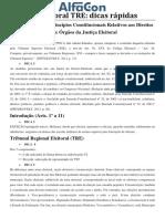 Direito Eleitoral TRE - Dicas Rápidas