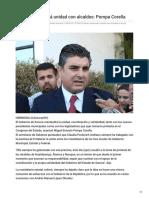 17-09-2018 -  Estado Mantendrá Unidad Con Alcaldes Pompa Corella - Elimparcial