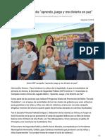17-09-2018 - Inicia SSP Campaña Aprendo Juego y Me Divierto en Paz - Opinionsonora