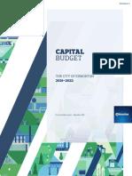 Capital Budget - Oct 2018