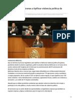 17/Octubre/2018 Urge Sylvana Beltrones a tipificar violencia política de género