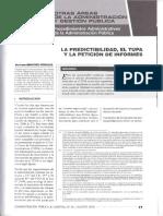 La Predictibilidad, El TUPA y La Petición de Informes.