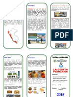 Triptico La Costa Peruana